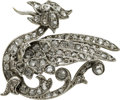 Estate Jewelry:Brooches - Pins, Diamond, Silver Brooch. ...