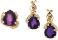 Estate Jewelry:Suites, Amethyst, Diamond, Gold Jewelry Suite. ... (Total: 3 Items)