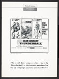 "Movie Posters:James Bond, Thunderball (United Artists, 1965). Pressbook (Multiple Pages,13.25"" X 18""). James Bond.. ..."