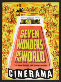 "Movie Posters:Documentary, Seven Wonders of the World (Cinerama Releasing, 1956). Program (Multiple Pages) (9"" X 12""). Documentary.. ..."