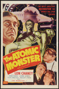 """Movie Posters:Horror, Man Made Monster (Realart, R-1953). One Sheet (27"""" X 41"""") Re-Released as The Atomic Monster. Horror.. ..."""