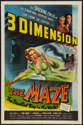 """Movie Posters:Horror, The Maze (Allied Artists, 1953). One Sheet (27"""" X 41"""") 3-D Style. Horror.. ..."""