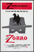 "Movie Posters:Adventure, Zorro (Allied Artists, 1976). One Sheet (27"" X 41""). Adventure....."