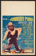 "Movie Posters:Science Fiction, Forbidden Planet (MGM, 1956). Window Card (14"" X 22""). ScienceFiction.. ..."