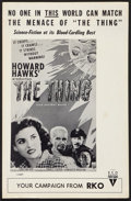 """Movie Posters:Science Fiction, The Thing From Another World (RKO, R-1957). Pressbook (Multiple Pages) (11"""" X 17""""). Science Fiction.. ..."""