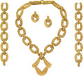 Estate Jewelry:Suites, Convertible Gold Jewelry Suite. ... (Total: 3 Items)