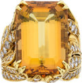 Estate Jewelry:Rings, Topaz, Diamond, Gold Ring . ...