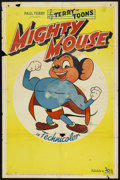 "Movie Posters:Animated, Mighty Mouse Stock (20th Century Fox, 1943). One Sheet (27"" X 41"").Animated.. ..."