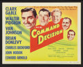 "Movie Posters:War, Command Decision (MGM, 1948). Title Lobby Card and Lobby Card (11"" X 14""). War.. ... (Total: 2 Items)"
