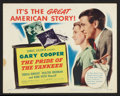 "Movie Posters:Sports, The Pride of the Yankees (RKO, R-1949). Title Lobby Card (11"" X 14""). Sports.. ..."