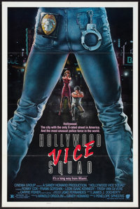 "Hollywood Vice Squad (Cinema Group, 1986). One Sheet (27"" X 41"") Flat Folded Style B. Comedy"