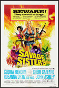 "Movie Posters:Bad Girl, Savage Sisters (American International, 1974). One Sheet (27"" X41"") Flat Folded Style A. Bad Girl.. ..."