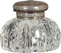 Military & Patriotic:Spanish American War, Sterling and Crystal Tiffany Inkwell to General Robert L. Meade, U.S.M.C., 1903....