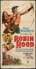 "Movie Posters:Adventure, The Story of Robin Hood (RKO, 1952). Three Sheet (41"" X 81"").Adventure.. ..."