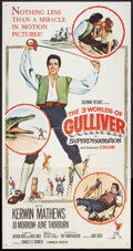 "Movie Posters:Fantasy, The 3 Worlds of Gulliver (Columbia, 1960). Three Sheet (41"" X 81"").Fantasy.. ..."