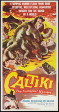 """Movie Posters:Horror, Caltiki, the Immortal Monster (Allied Artists, 1960). Three Sheet (41"""" X 81""""). Horror.. ..."""