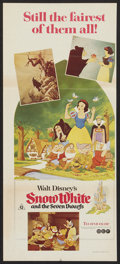 "Movie Posters:Animated, Snow White and the Seven Dwarfs (Buena Vista, R-1975). AustralianDaybill (13"" X 30""). Animated.. ..."