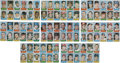 Baseball Cards:Lots, 1969 Topps Stamps Uncut Panels Collection (8). ...