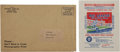 Baseball Collectibles:Others, 1934 Goudey Wrapper and 1939 Mailing Envelope Pair (2). ...