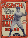 """Baseball Collectibles:Publications, 1935 """"The Reach Official American League Baseball Guide"""" withGehrig Cover...."""