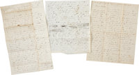 Union Soldier Isaac N. Leonard Autograph Letters (Two) Signed Detailing the First