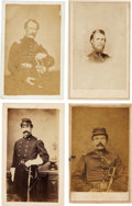 Military & Patriotic:Civil War, Civil War: Four Identified Carte de Visite Images of Union Officers....