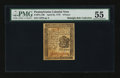 Colonial Notes:Pennsylvania, Pennsylvania April 25, 1776 6d PMG About Uncirculated 55....