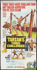 "Movie Posters:Adventure, Tarzan's Three Challenges (MGM, 1963). Three Sheet (40"" X 81"").Adventure.. ..."