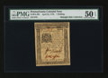 Colonial Notes:Pennsylvania, Pennsylvania April 25, 1776 1s PMG About Uncirculated 50 EPQ....