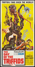 """Movie Posters:Science Fiction, The Day of the Triffids (Allied Artists, 1962). Three Sheet (41"""" X 81""""). Science Fiction.. ..."""
