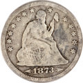 Seated Quarters, 1873-CC 25C Arrows VG8 PCGS....