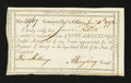 Colonial Notes:Connecticut, Connecticut Interest Payment Certificate. January 7, 1792. Extremely Fine....