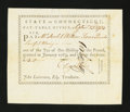 Colonial Notes:Connecticut, Connecticut Pay Table Office. September 23, 1784. ExtremelyFine....