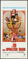 "Movie Posters:Action, Enter the Dragon (Warner Brothers, 1973). Italian Locandina (13"" X27.5""). Action.. ..."