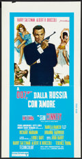"Movie Posters:James Bond, From Russia with Love (United Artists, R-1970s). Italian Locandina(13"" X 25.5""). James Bond.. ..."