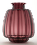 Art Glass:Other , A.D. COPIER FOR LEERDAM . A Plum Glass Vase, circa 1930. Marks:etched artist's monogram. 14-1/4 inches (36.2 cm) high. ...