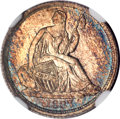 Seated Half Dimes, 1837 H10C No Stars, Large Date (Curl Top 1) MS67 NGC....