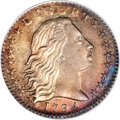 Early Half Dimes, 1794 H10C --Plugged, Repaired--ICG. AU 50 Details....