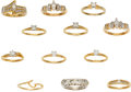 Estate Jewelry:Lots, Lot of Diamond, Gold Rings. ... (Total: 11 Items)