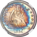 Proof Seated Quarters, 1884 25C PR65 Cameo NGC....