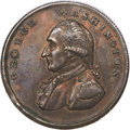 Colonials, Undated PENNY Washington Liberty & Security Penny, Corded Rim MS60 Brown PCGS....