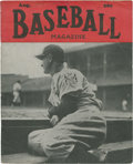 """Baseball Collectibles:Publications, August 1939 """"Baseball Magazine"""" with Gehrig Cover...."""