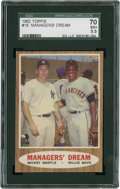 Baseball Cards:Singles (1960-1969), 1962 Topps Managers' Dream #18 SGC 70 EX+ 5.5....