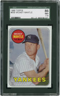 Baseball Cards:Singles (1960-1969), 1969 Topps Mickey Mantle, Yellow Letters #500 SGC 86 NM+ 7.5....