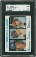 Baseball Cards:Singles (1970-Now), 1973 Topps Mike Schmidt/Ron Cey Rookie #615 SGC 86 NM+ 7.5....