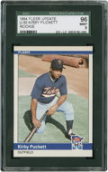 Baseball Cards:Singles (1970-Now), 1984 Fleer Update Kirby Puckett #U-93 SGC 96 Mint 9....