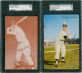 Baseball Cards:Lots, 1953 Dormand & 1963 Exhibit Mickey mantle SGC-Graded Pair (2). ...