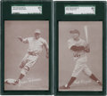 Baseball Cards:Singles (1940-1949), 1947-1966 Exhibits Jackie Robinson & Phil Rizzuto SGC-Graded Pair (2). ...