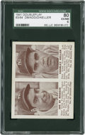 Baseball Cards:Singles (1940-1949), 1941 Double Play DiMaggio/Keller 63/64 SGC 80 EX/NM 6....