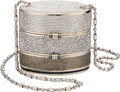 "Estate Jewelry:Purses, Austrian Crystal, White Metal, ""Train Case"" Evening Bag, JudithLeiber. ..."